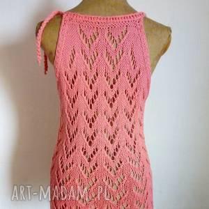 letnia bawełniana bluzka, top, na drutach