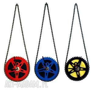 zegar ścienny na łańcuchu, prezent, rowerzysty, bauhaus, zegar, łańcuch
