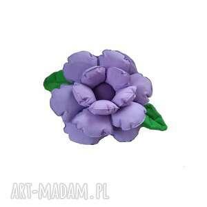 Poduszka ozdobna kwiatek jasny fiolet poduszki molicka kwiatek