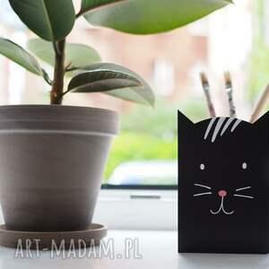 pudełka komplet 4 szt - dwustronne pojemniki z kotem małe, kot, pojemnik