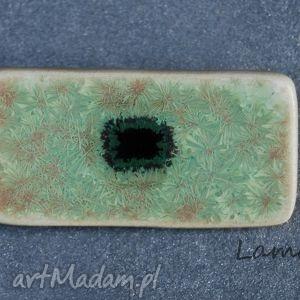 ceramiczna broszka, zielony, ceramiczne, prezent, święta