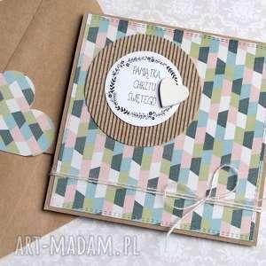 hand made kartki pamiątka chrztu świętego: kartka handmade