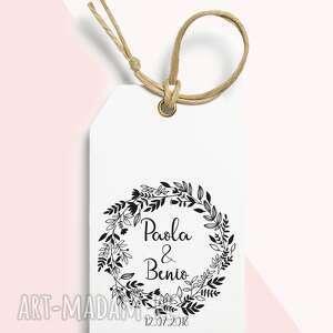 Ślub - stemple-stempel ślubny personalizowany wianek zapisz