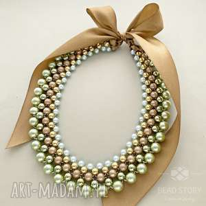 naszyjniki agnes, korale, perełki, kolia, elegancki naszyjnik, wesele