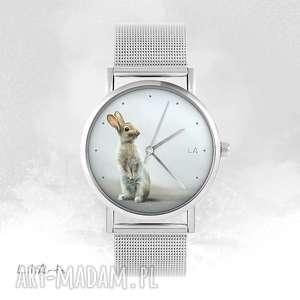 Zegarek, bransoletka - zając metalowy zegarki liliarts