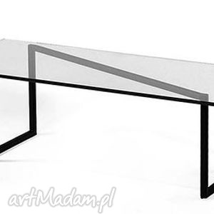 Stolik KABERU industrialny do loftu szkło i stal, stolik, industrialny, loft, vintage
