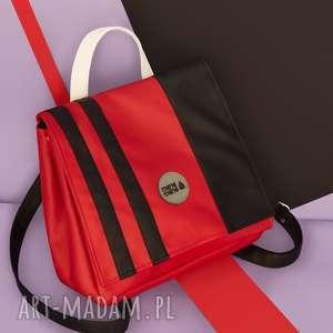 Kolorowy plecak wpaski pracownia mana damski, wodoodporny
