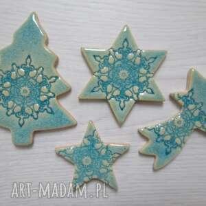 magnesy zestaw 4 magnesów świątecznych, świąteczne, upominki, magnesy, gwiazdki
