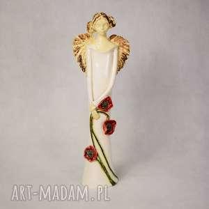 Anioł z kwiatami, anioł-z-kwiatami, wykonany-ręcznie