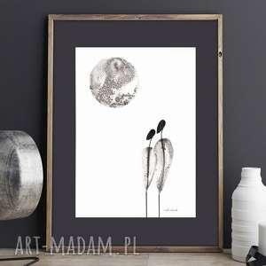 abstrakcja minimalizm, obraz malowany, grafika A4, obrazy-do-salonu, minimalizm