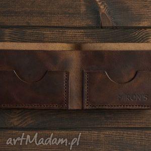 Bifold Brązowy, portfel, portfelik, skóra, skórzany, minimalistyczny, slim