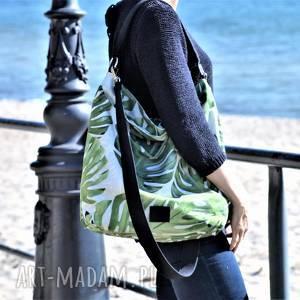 handmade na ramię duży worek xl w liście
