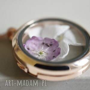 925 kalmia hortensja medalion - kwiaty, hortensja, natura, medalion, srebro, prezent