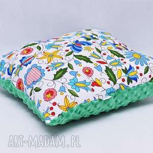 poduszka kaszubska z zielonym minky, poduszka, kaszubska, folkowa, regionalna