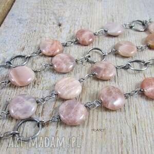 handmade naszyjniki kamień słoneczny - długi naszyjnik