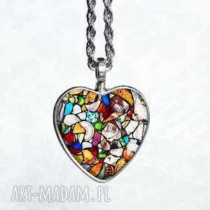 witrażowe serce :: naszyjnik serce, serduszko, serca, romantyczny, stylowy, ukochanej