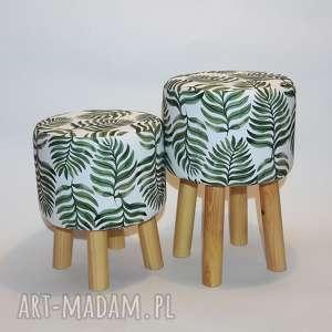 pufa liść paproci 2 - 45 cm, puf, stołek, ryczka, siedzisko, taboret, hocker