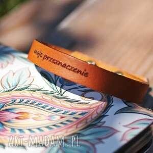 bransoletka damska z indywidualnym grawerem, napisem - personalizowana