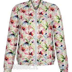 lekka wiosenna dzininowa bluza damska, bomberka, kurtka dresowa na suwak