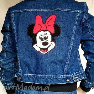 katana z myszką minnie - kurtka, katana, jeans, dżins, denim, recykling