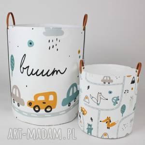 handmade pokoik dziecka komplet dwóch pojemników z autkami