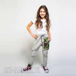 spodnie dresowe dziecięce jungle 110-134 cm, dresowe, szare spodnie