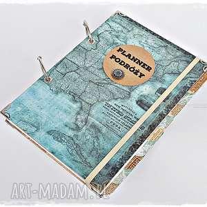 ręcznie wykonane scrapbooking albumy planner podróży - pamiętnik podróży