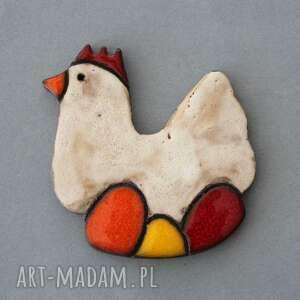 handmade prezenty świąteczne koko-magnes ceramiczny