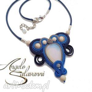 ręcznie wykonane wisiorki naszyjnik sutasz - łza z opala - angelo salavanni
