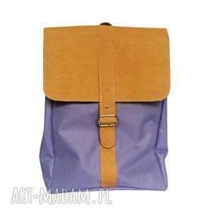 plecak vintage fioletowy na laptopa z klapą wodoodporny