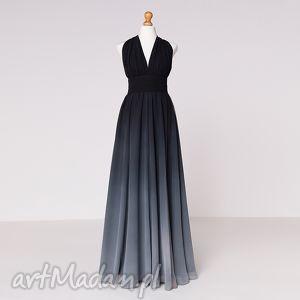 Ligia - sukienka sukienki pawel kuzik moda, szyfon, cieniowanie