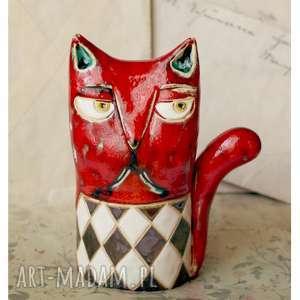 Kot bajkowy, ceramika, kot, dekoracje