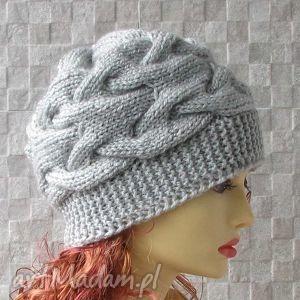 czapka zimowa - beanie grey - czapka, zima, beanie, akcesoria, kobieta, fashion
