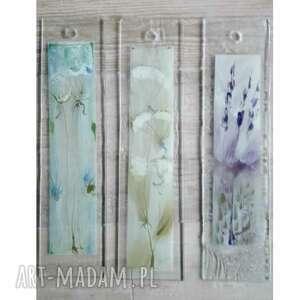 Zestaw 3szt szklanych obrazków malowanych ręcznie szkło renata