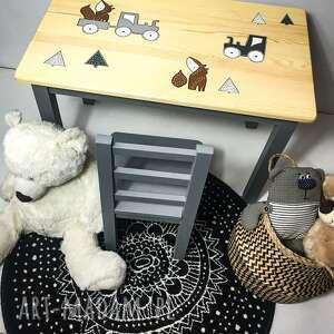 handmade pokoik dziecka stolik i krzesełko - komplet mebelków dziecięcych