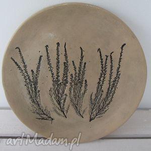 ceramika wrzosowy talerzyk, patera, wrzosami, roślinna, eco dom