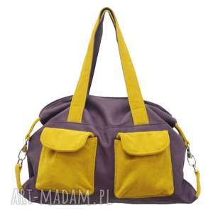 na ramię 09-0007 fioletowa torba sportowa / torebka fitness tit, modne torebki