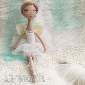 dekoracja tekstylna baletnica wróżka - lalka, aniołek, malowany, unikat