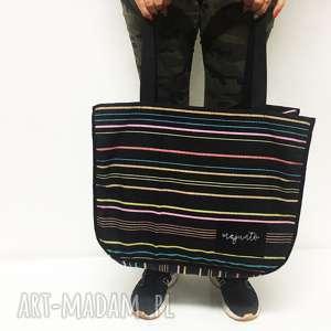 duża torba stripes od majunto, torba, wielka