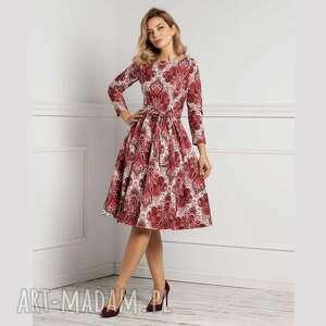 prev-next sukienka marie 3/4 midi oriana, midi, rozkloszowana