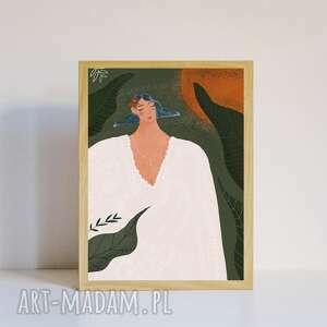 muki design plakat a4 energia, plakat, dekoracyjny, z kobietą