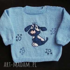 hand-made zamówienie - sweterek z pieskiem:)