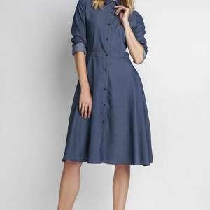 sukienki sukienka, suk130 jeans, office, midi, casual ubrania
