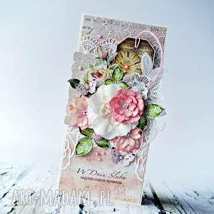 scrapbooking kartki w dniu ślubu najpiekniejsze życzenia - kartka ręcznie