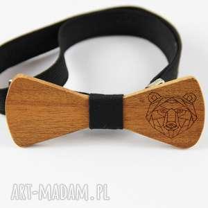 Muszka drewniana the bow ties miś, niedźwiedź
