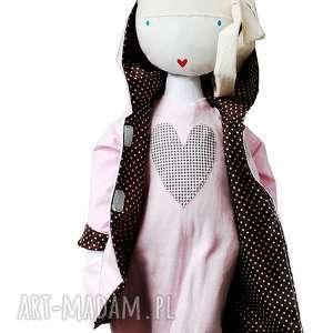 lalki kurtka z kapturem i tunika - outfit dla lalki, lalka, kot, szmacianka