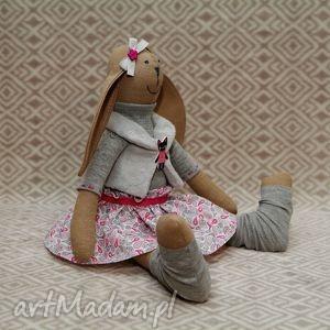 siostra krawaciarzy kociara - paisley, kot, królik, szmacianka, przytulanka, roczek