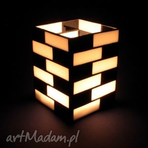 lampion witrażowy - wall, lampion, witraż, box, szkło, świecznik