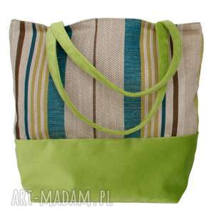38-0004 Wielobarwna torebka na eko zakupy shopper bag SISKIN, markowe-torebki