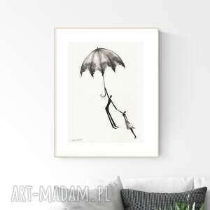 grafika 30x40 cm wykonana ręcznie, abstrakcja, obraz do salonu, 2855954